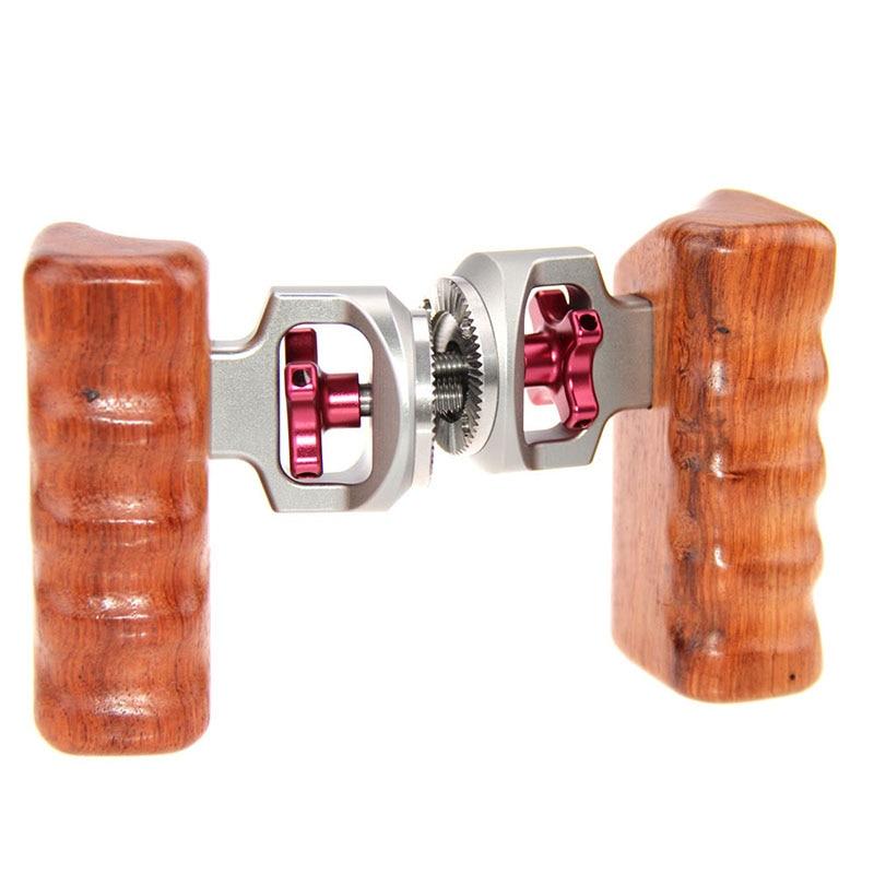 Poignée de caméra en bois ARRI Rosette pour canon nikon DSLR Camara Cage poignée en bois stabilisateur de caméra accessoire Fotografia C1327