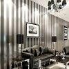 European Modern 3D Embossed Cozy Bedroom Non Woven Wallpaper Roll Golden Silver Black Striped Wallpaper For