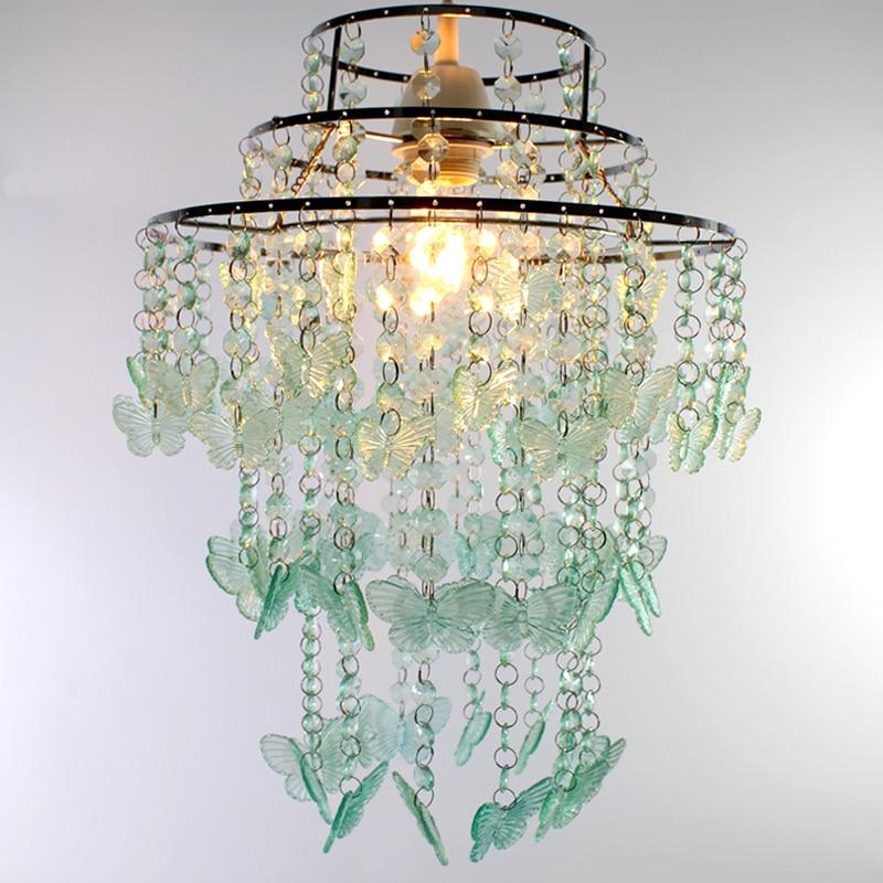 SUNLI HOUSE Green Butterfly Chandelier Acrylic Modern Chandelier Pendant Lamp Decoration Indoor ...