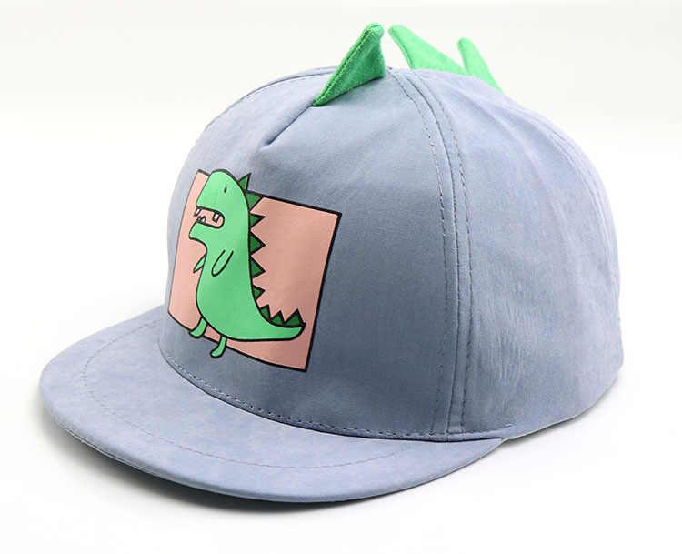 2019 The New Style Cute cartoon Small dinosaur Baseball Cap hip-hop Cap  Adjustable Snapback a76f481a8653