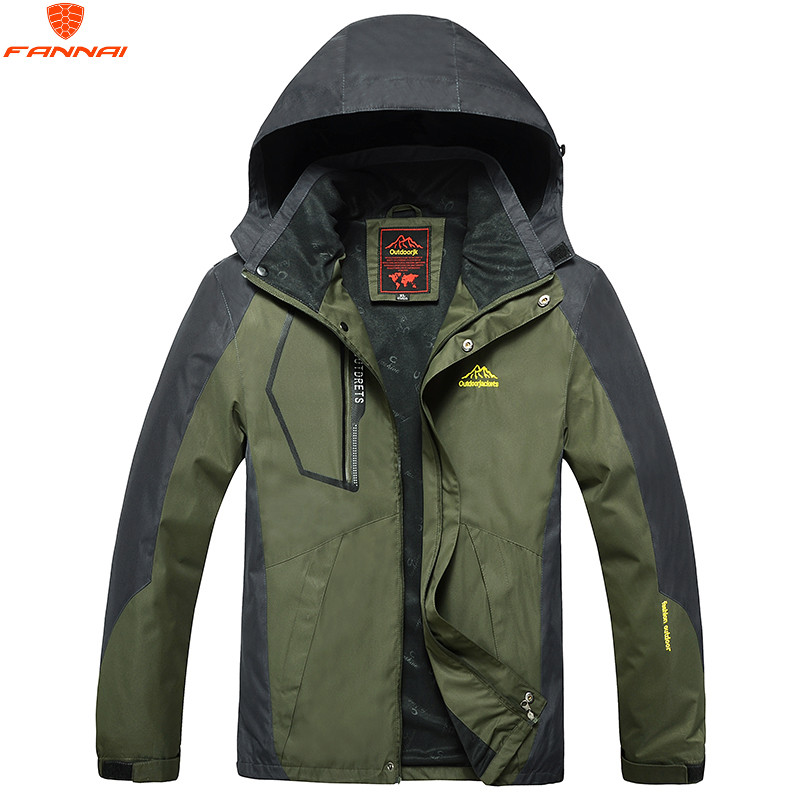 2018 Spring Men's Large Size L-8XL Windbreaker Jacket Men's Polyester 100% Waterproof Windproof Brand Clothing Stitching Jacket