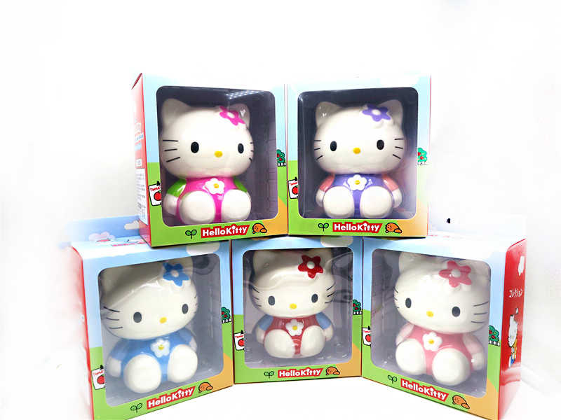 4pcs/lot,KT cat doll,5 styles,Original packaging,Hello Kity Large furnishing articles, Slow rising bread,Cute cartoon squishy