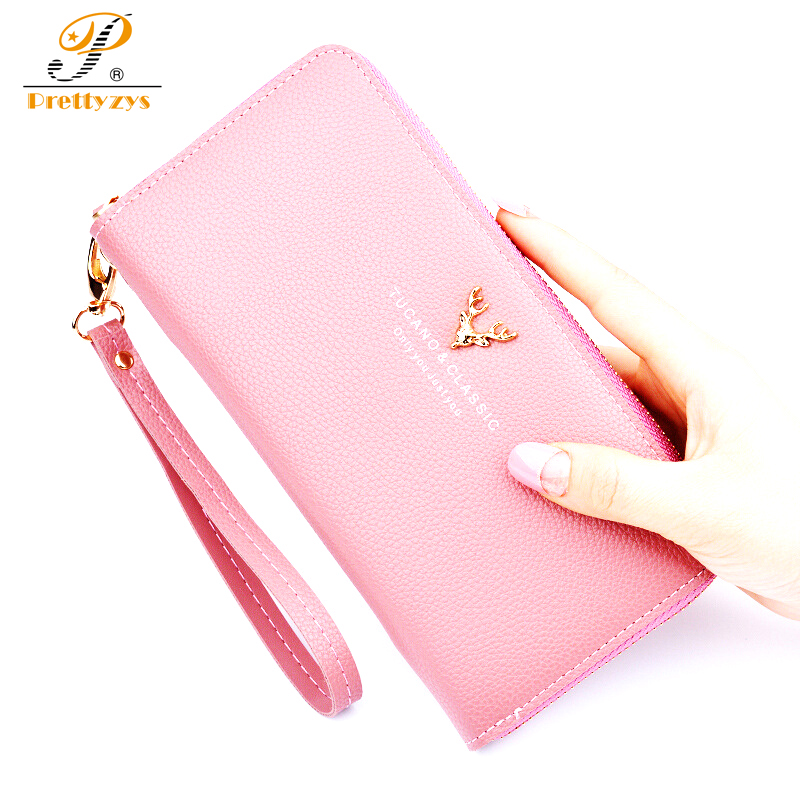 Wallet Female Purse Women Bag female Card Holder Coin Long Large Wallets and Purses Handy Mobile Money Ladies Deer Zipper Gift hot sale owl pattern wallet women zipper coin purse long wallets credit card holder money cash bag ladies purses