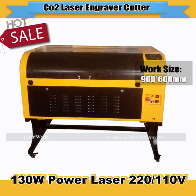 US $2397 0 6% OFF New Type 130W CO2 laser cutter laser cutting engraving  machine 600*900mm engraver with USB connection-in Wood Routers from Tools  on