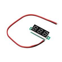Цифровой вольтметр Voltimetro Синий Красный светодиодный вольтметр датчик, Вольтметр DC 2,5-30 в красный/желтый/синий/зеленый индикатор