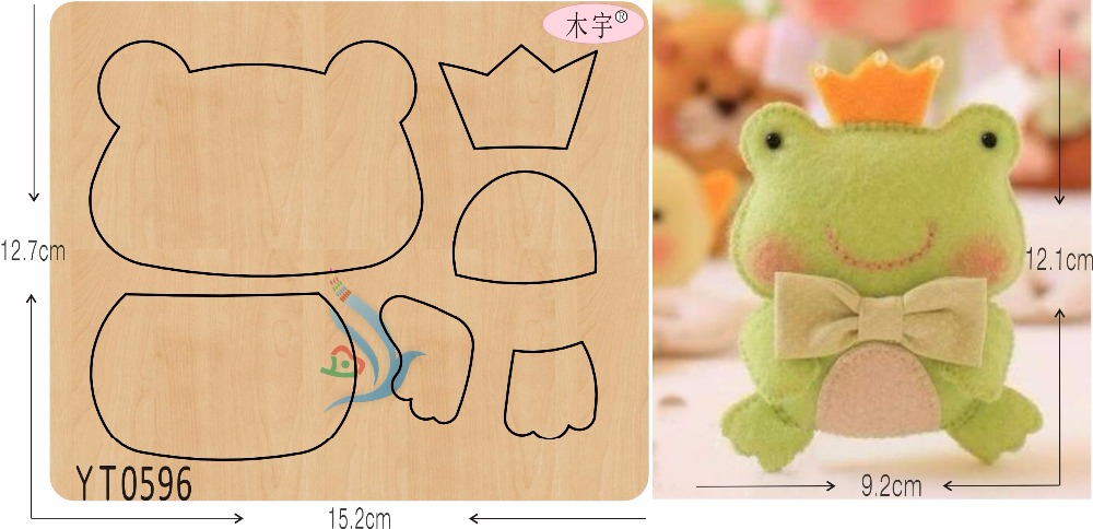 Lovely little frog DIY new wooden mould cutting dies for scrapbooking Thickness 15 8mm YT0596