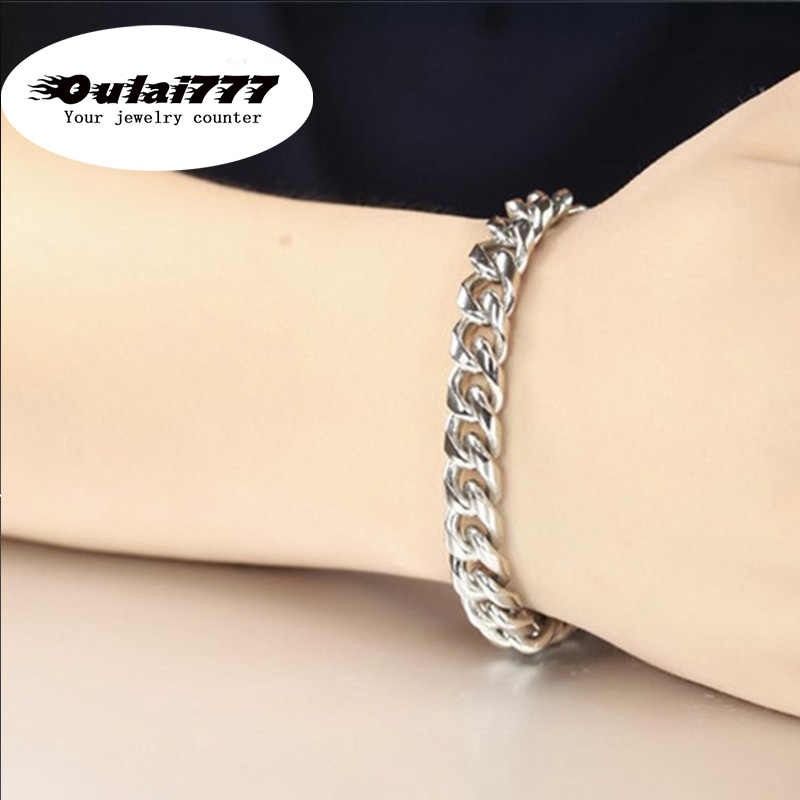 wholesale stainless steel mens bracelet gifts men male man cuban  hand chain link on bracelets & bangles jewelry accessories