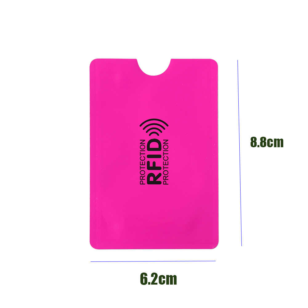 2/5PC/Set Metal Smart Anti-theft Credit Card Holder Aluminium Anti Rfid Blocking Reader Lock Card Holder Id Card Case Protect