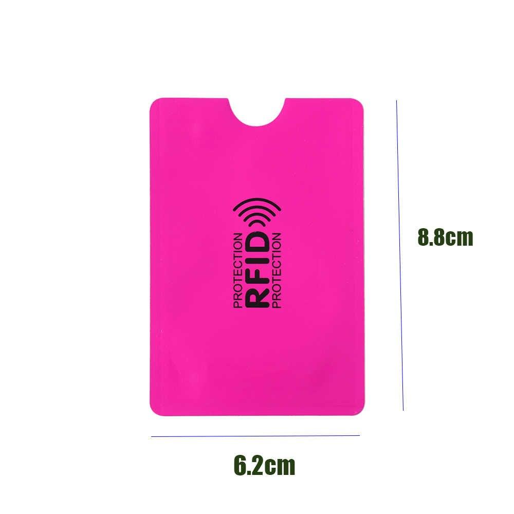 5PCS/Pack Anti Rfid Blocking Reader Lock Card Holder ID Bank Card Case Smart Anti-theft Credit Card Holder Protection Aluminium
