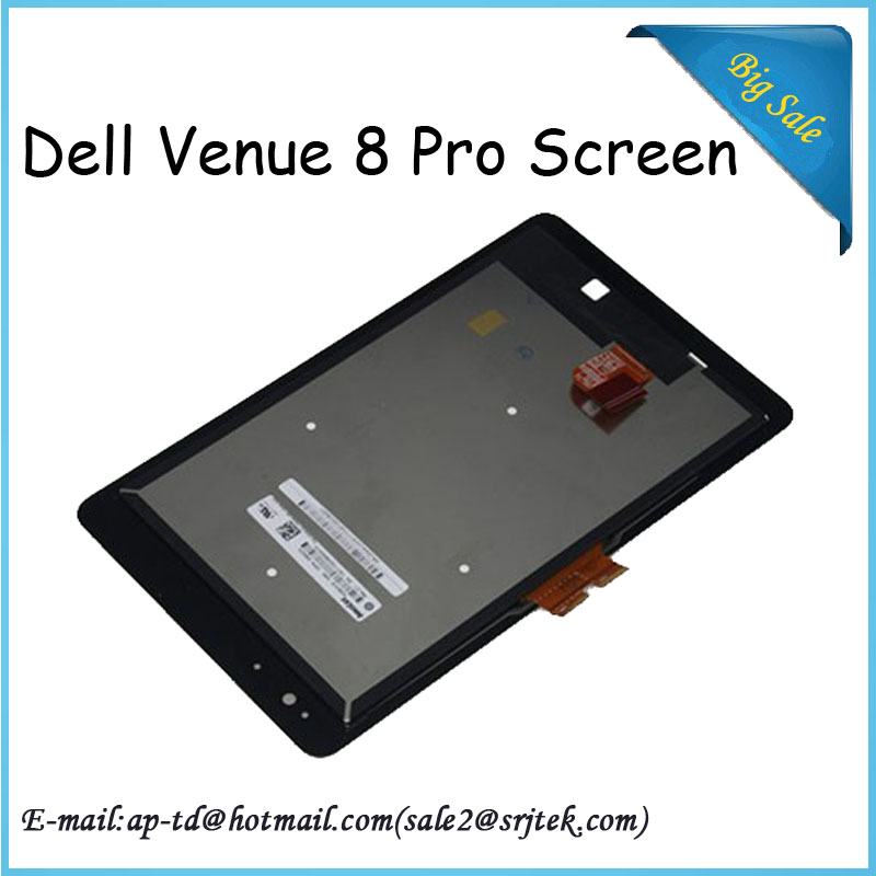 Original New 8inch For Dell Venue 8 Pro LCD Display + Touch Screen Digitizer Full Assembly Tablet Pc Repair Part+Free Shipping high quality assembly tablet pc for dell