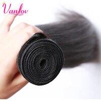 Vanlov Peruvian Straight Virgin Hair Peruvian Straight Human Hair Bundles 100 Unprocessed Hair Extension Can Buy