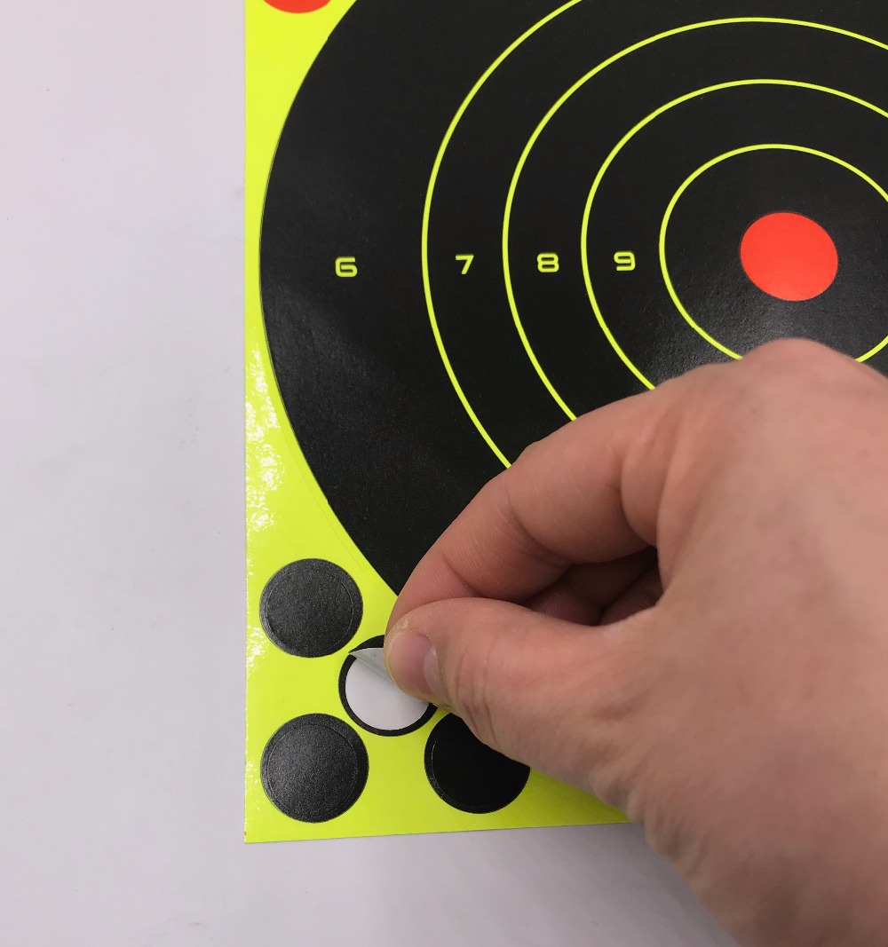 """Image 4 - 20/40PC 8"""" Splatter Self Adhesive Target Stickers Fluorescent Yellow use for AirSoft BB Guns Air Rifle Target Practice Shooting-in Paintball Accessories from Sports & Entertainment"""