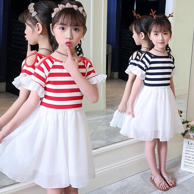 Tammy Ada Girls Dresses Cotton Short Sleeve A Line Dress -8831