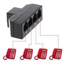 RJ11 6P4C Женский до 4 Ethernet RJ45 8P8C Мужской F/M адаптер конвертер кабель телефонные аксессуары hyq