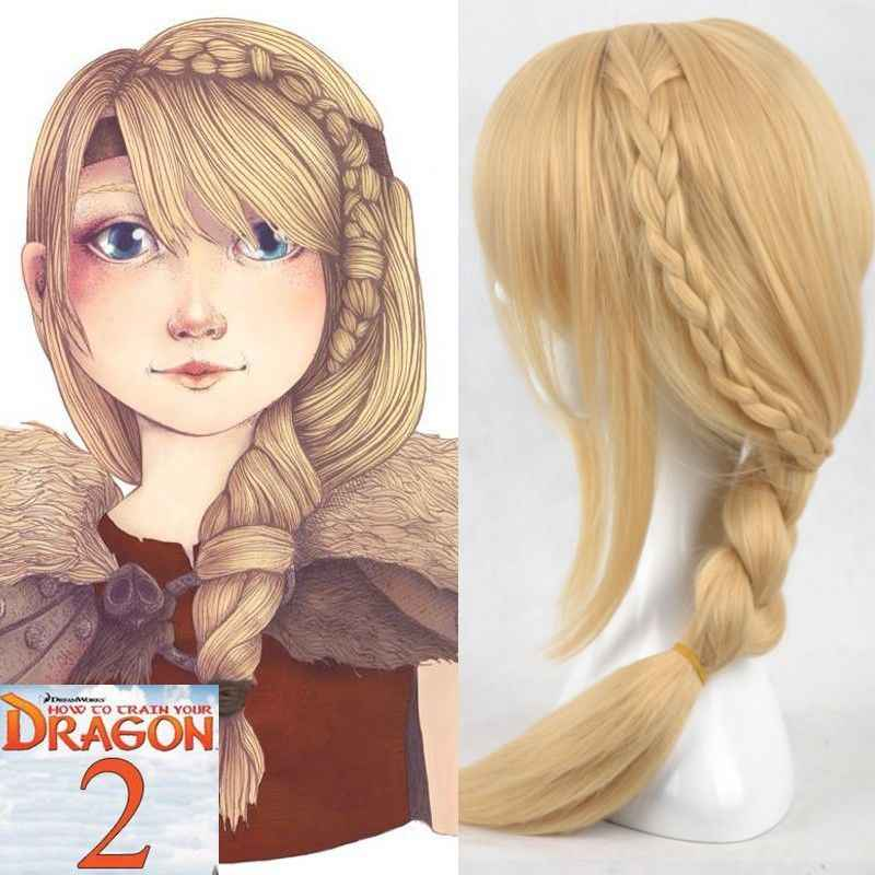 New Movie How To Train Your Dragon 2 Astrid Long Braid Cosplay Wigs For Women Wig Cap Aliexpress