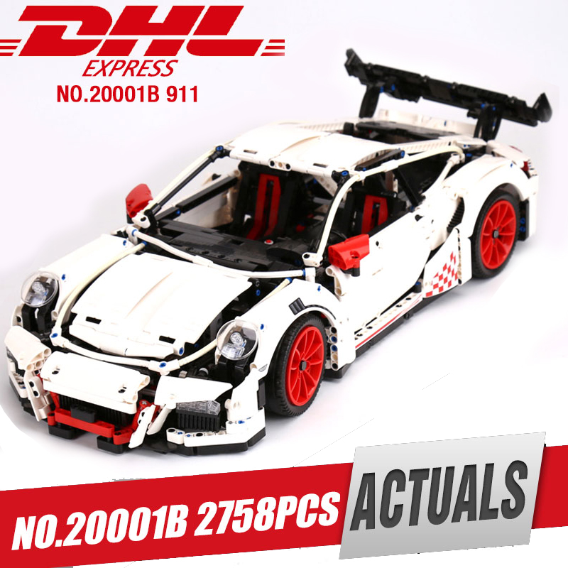 LEPIN 20001B technic series Race Car Model Building Kits Blocks Bricks Compatible legoed 42056 For children brithday Gifts