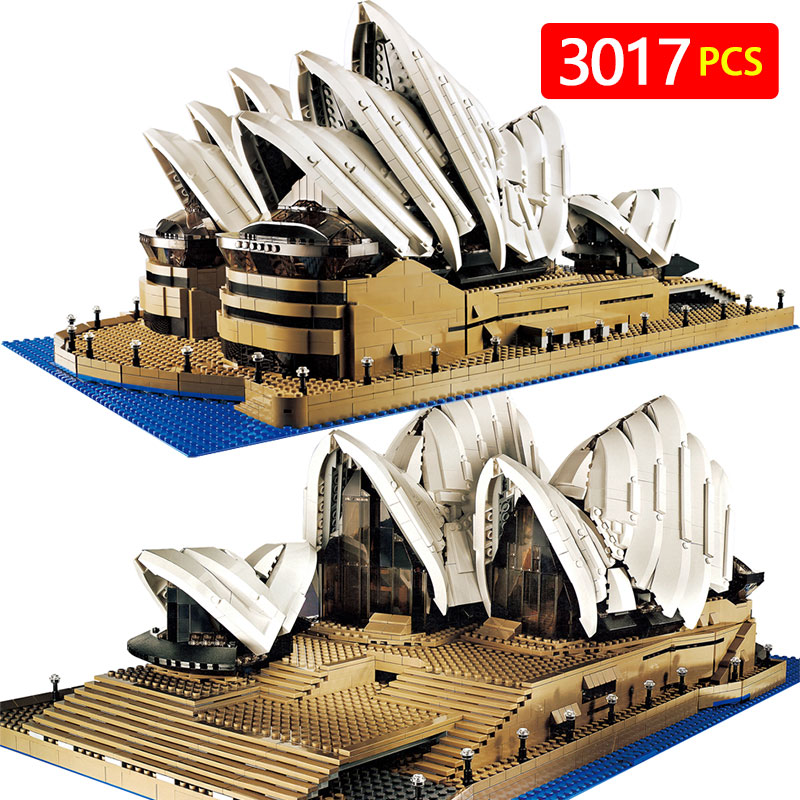 Creators Compatible LegoINGLYS City Sydney Opera House Model Building Kits Blocks KidToy Brick Architecture Toys For Children creators building blocks dragon knight set compatible legoinglys harry potte castle magic architecture toys for children