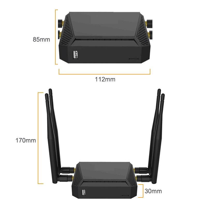 Routeur 3G 4G WiFi Modem avec emplacement pour carte SIM 128 mo de mémoire 300 Mbps 12 V LTE OpenWrt sans fil USB WiFi routeur réseau SMA connecteur - 5