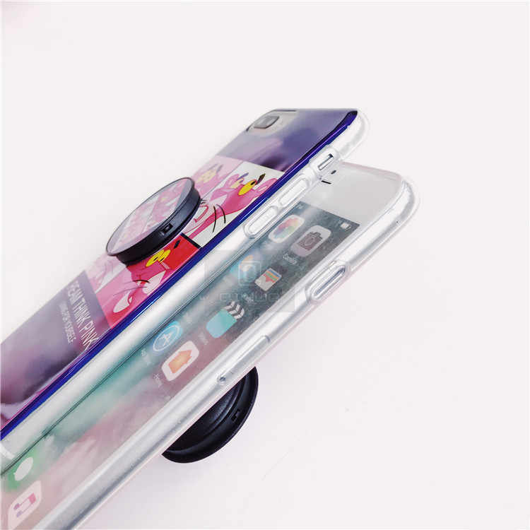 size 40 26b50 8fa04 QINUO Original Round Phone Flexible Finger Ring Holder Grip Mount Mobile  Case Lazy Stand for Iphone 8 7 6S Plus X Stand Case