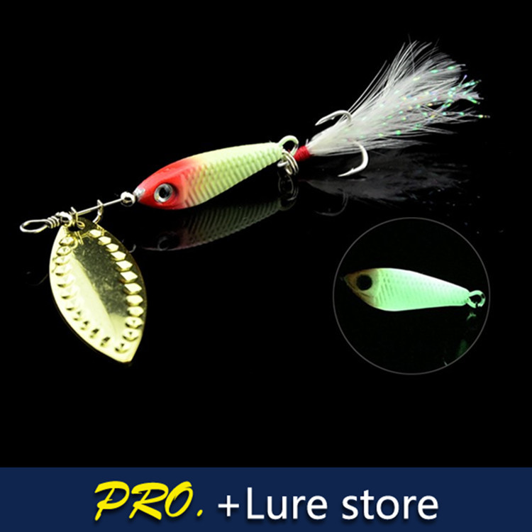 6pcs 10g 12g 15g 21g Colorful bass fishing lure, metal spinner spoon trout bass deep diving lure baits , fishing spinner treble