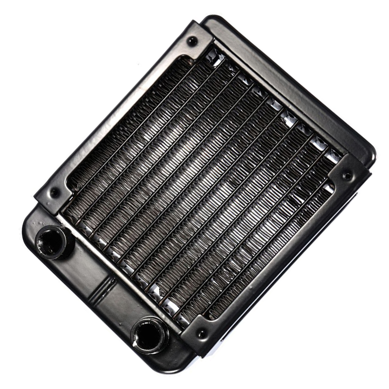 CAA-G1/4 90mm Aluminium Heat Radiator For PC CPU Water Cooling Heatsink Black