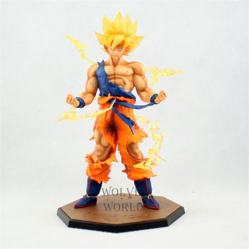 Anime Dragon Ball Z Super Saiyan Goku Figure Son Gokou PVC Action Figure Model Collection Kids Toys Doll Christmas Gift 17CM cute pet rare color sausage short hair dog action figure girl s collection classic anime christmas gift lps doll kids toys