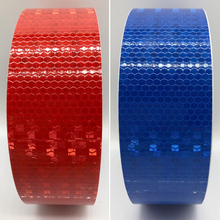 5cmx25m Safety Mark Reflective tape stickers car-styling Self Adhesive Warning Tape Automobiles Motorcycle Reflective Film 20roll wholesale express reflective warning tape self adhesive sticker for car
