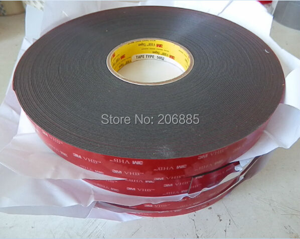 3M VHB 5952 high sticky acrylic adhesive foam tape/it can sticky to Glass,Metal and so on size is 12mm*33M/5rolls/lot 3m acrylic tape vhb 4991adhesive double sided tape outstanding durability performance 0 5 in 18yd 5rolls we can offer other size