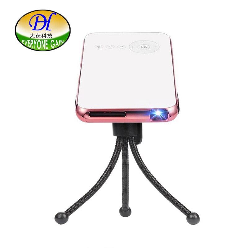 Tout le monde gagne Mini projecteur de poche celulaire Smartphone projecteur Android Wifi Bluetooth A118 + Portable Portable Proyectores