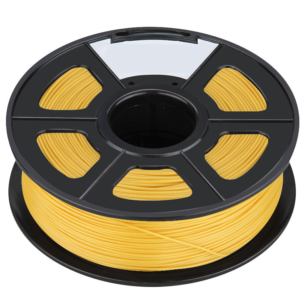 New 3D Printer Printing Filament ABS -1.75mm ,1KG, for Print RepRap Color: Gold Yellow new anet e10 e12 3d printer diy kit aluminum frame multi language large printing size high precision reprap i3 with filament