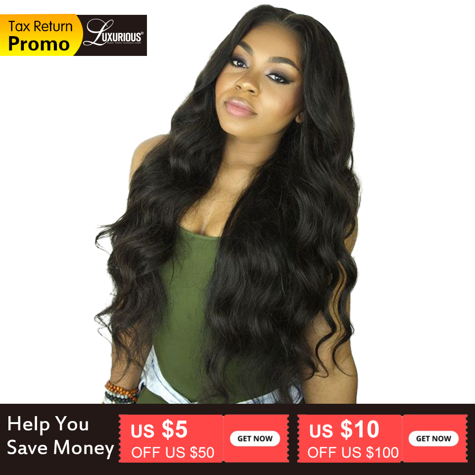 Body Wave Lace Front Human Hair Wigs For Women Pre Plucked Hairline With Baby Hair 8-26Inch Brazilian Remy Hair Bleached Knots(China)