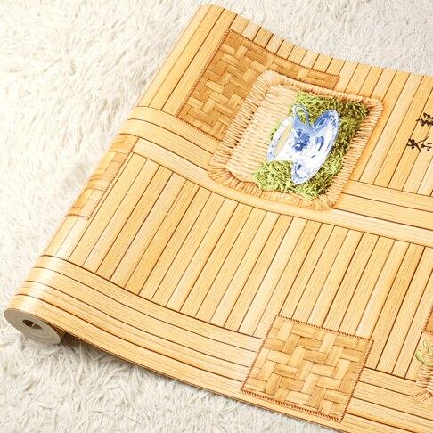 Chinois rétro thé restaurant fond d'écran papier peint 3D mural papier peint 3D fleur bambou papier peint salon papier peint rouleau - 6