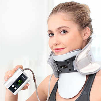 Adjustable inflatable Electric neck cervical traction neck support brace household massage Spondylosis Collar Hanging Neck frame - Category 🛒 Beauty & Health