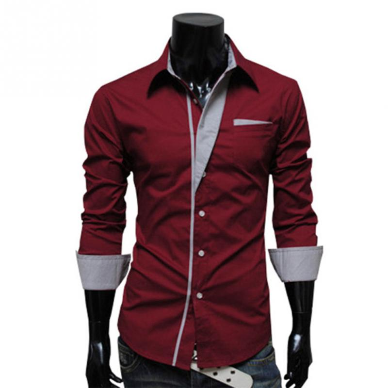 Fashion Men Shirts with Stripes Assorted Colors Style Slim ...