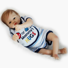 Cloth Body 22 Inch 55 cm Realistic Reborn Baby Boy Newborn Silicone Babies Doll Realistic Toy With Clothes Kids Birthday Gift
