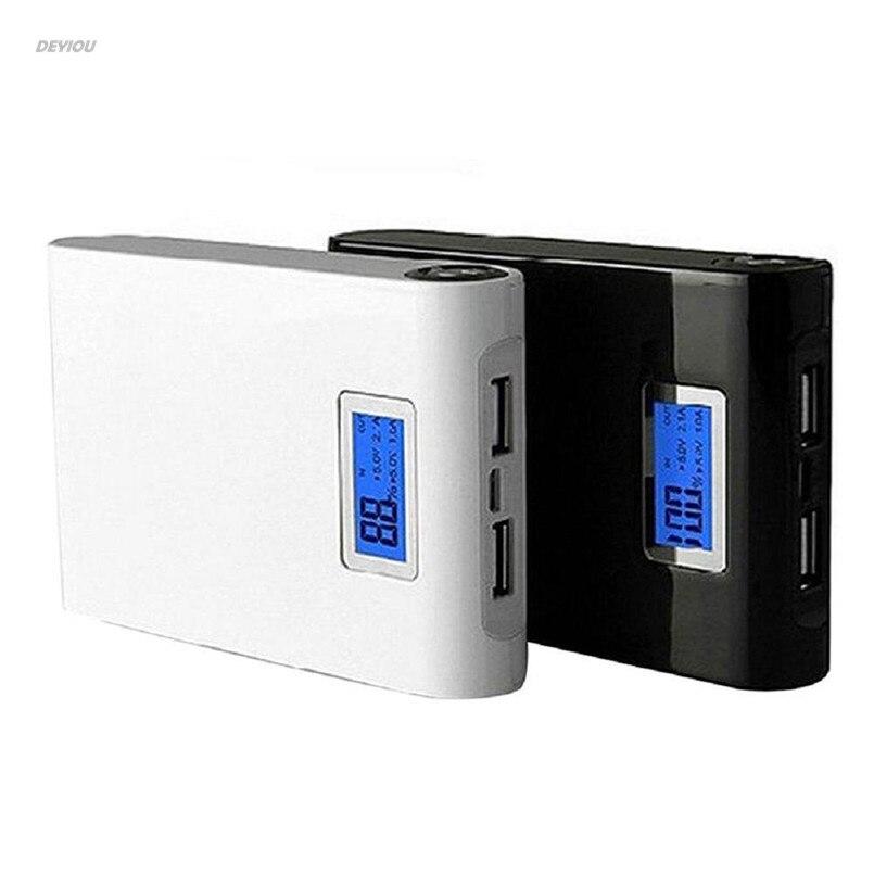 5V 12000mah Dual USB Power Bank 18650 Battery Charger Case DIY Box For Phone DEYIOU
