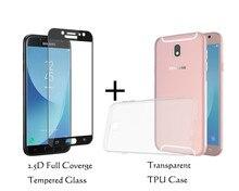 a9530491315 Para Samsung Galaxy J7 Pro J730G 730F j7 2017 transparente TPU funda  protectora 9 H claro Vidrio Templado protector de pantalla