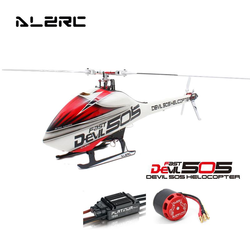 ALZRC Devil 505 FAST RC Helicopter Standard Combo High Quality RC Models Carbon Fiber Frame With 100A V3 ESC 1200KV Motor global eagle 2 4g 480e dfc 9ch rc helicopter remote 3d drones rtf set 9ch rc 1700kv motor 60a esc carbon fiber body