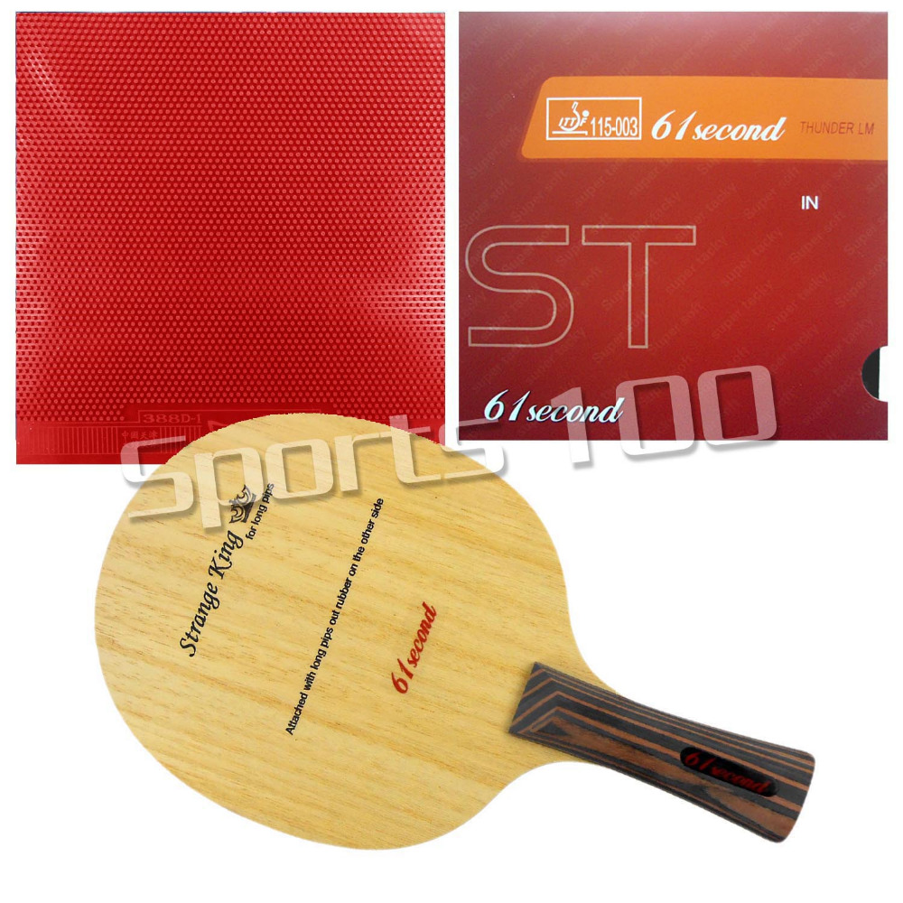 Pro Table Tennis Combo Paddle Racket 61second Strange King with LM ST and Dawei 388D-1 Long Shakehand FL with a free Cover galaxy yinhe emery paper racket ep 150 sandpaper table tennis paddle long shakehand st