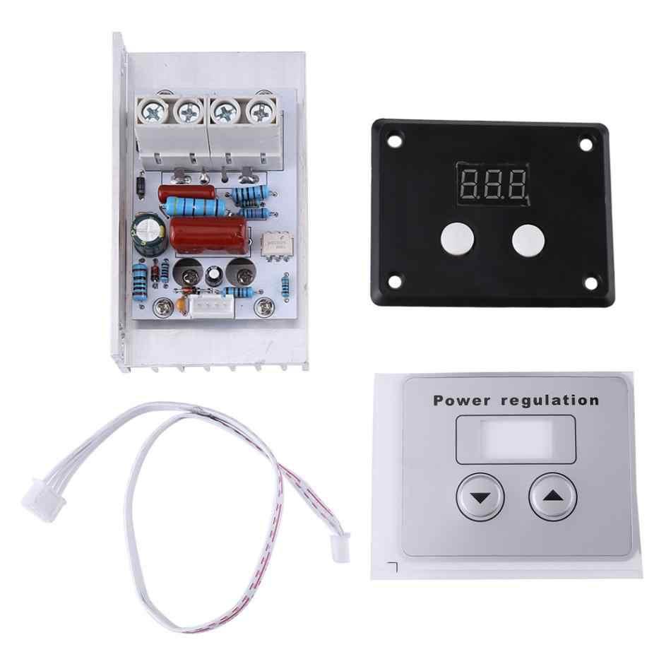 AC 220 V 10000 W 80A цифровой контроль SCR Электронный регулятор напряжения регулятор скорости Диммер термостат + Цифровые метры