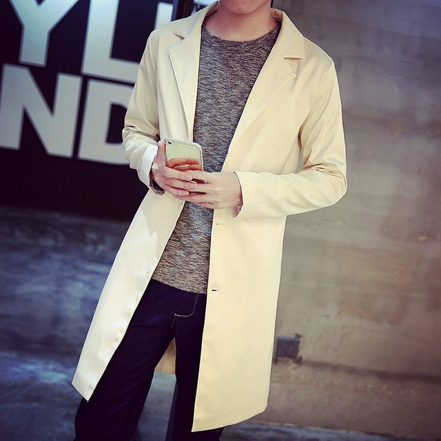 2016 Mens Top Designer Clothing British Style Cotton Trench Coat Autumn Long  Jacket Windbreaker Men Overcoat Casacos Size 2XL