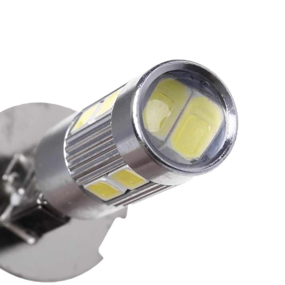 1Pc haute qualité aluminium H3 blanc 10 LED 5630 SMD brouillard ampoule de voiture LED queue tourner feux de route feux de route