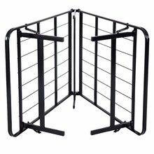 Fodable Black Steel Bed Frame