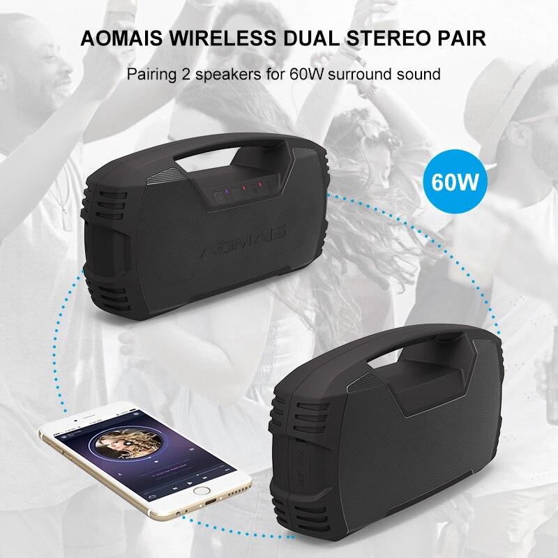 AOMAIS Aller haut-parleurs bluetooth de plein air 30 W Avec Fort Basse IPX7 Étanche 30 Heures de Lecture avec 8800 batterie mah Portable Haut-Parleur - 3