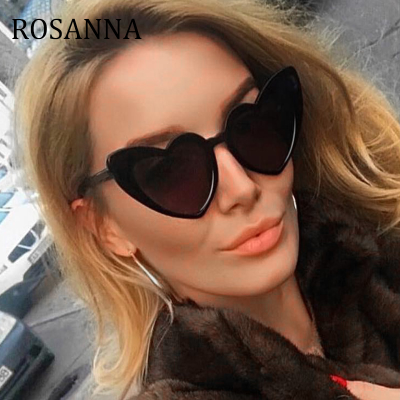 85383a21d0 ROSANNA Heart Sunglasses Women brand designer Cat Eye Sun Glasses Retro  Love Heart Shaped Glasses Ladies Shopping Sunglass UV400