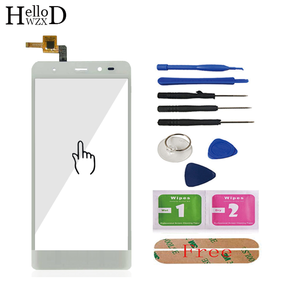 5.0'' Mobile Phone Capacitive Touch Screen For Leagoo T1 Touch Screen Digitizer Panel Front Glass Lens Sensor + Adhesive