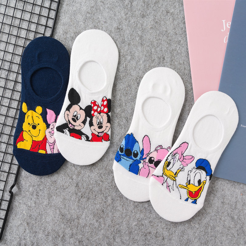 Cheap Cute Duck Mouse Women Cotton Socks Cartoon Animal Funny Low Cut Ankle Socks Summer Invisible No Show Socks Dropshipping