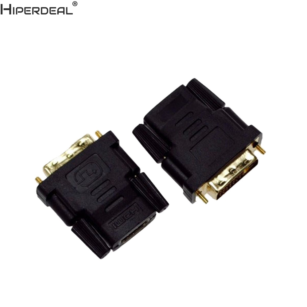 HIPERDEAL DVI-D Male (24+1 pin) to HDMI Female (19-pin) HD HDTV Monitor Display Adapter Oct30HW image