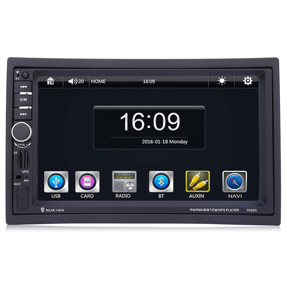 7020G 2Din 7 Inch Car MP5 Player Autoradio Bluetooth HD Touch Screen With GPS Navigation Rear View Camera Auto FM Without Camera new 7 inch 2din bluetooth car radio video mp5 player auto radio fm 18 channel hd 1080p in dash remote control rear view camera