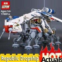 Лепин Звездные войны 05053 Республика десантный модели набор строительных блоков кирпичи развивающие игрушки legoings Звездные войны 10195 горячие игрушки